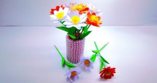 how-to-make-paper-flowers-step-by-step-paper-flowers-rose-paper-flower-vase