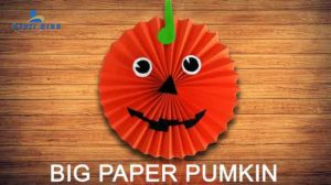 How to Make a Paper Pumpkin Halloween decoration